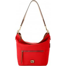 Dooney & Bourke Wayfarer Nylon Small Hobo Crossbody Handbag, Bright Red