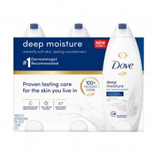Dove 3 Pack of Moisturezer Body Wash Deep (3 x 24oz)