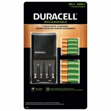 Duracell Ion Speed 4000 Rechargeable Battery Kit with 4 x AA Batteries and 4 x AAA Batteries