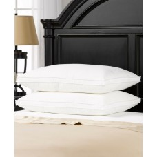 Ella Jayne Overstuffed Plush Medium/Firm Density Gel Filled Side/Back Sleeper Pillow (White, King)