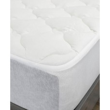 eLuxury Rayon from Bamboo Queen Mattress Pad (White, Queen)