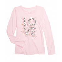 Epic Threads Big Girls Love T-Shirts, Pink, Medium