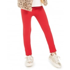 Epic Threads Little Girls Cable Knit Leggings (Dark Red, 6X)