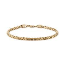 Esquire Men's Jewelry Box Link Chain Bracelet in 14k Gold