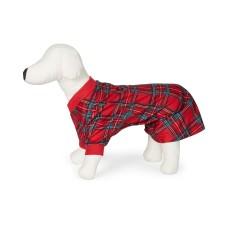 Family Pajamas Cotton Plaid Pet Pajamas Brinkley Plaid (Red- Small)