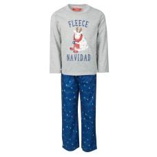 Family Pajamas Kids Holiday Lights Pajama Set Holiday Lights (Navy 6-7)