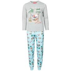 Family Pajamas Kids Tropical Santa Pajama Set Santa Beach (Navy, 2T/3T)
