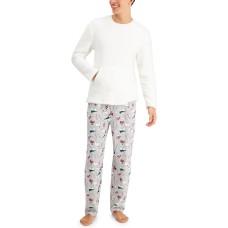 Family Pajamas Matching Men's Polar Bears Family Pajama Set (Gray)