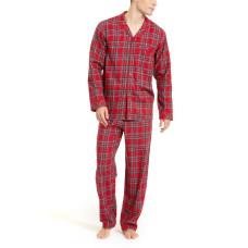 Family Pajamas Mens Cotton Plaid Pajamas Set Brinkley Plaid (Red, XX-Large)