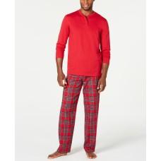 Family Pajamas Men's Matching Mix It Brinkley Plaid Pajama Set (Red)