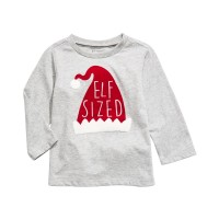 First Impressions Baby Boys Elf T-Shirt, (Gray, 0-3 Months)