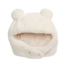 First Impressions Baby Girls & Boys Faux-Fur Pom Pom Hat (White, 0-6M)