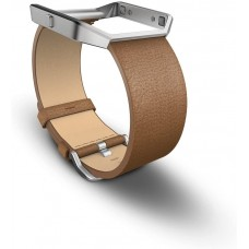 Fitbit Men's Blaze Leather Accessory Band, Camel, Large