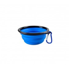Folding Dog Bowl - Collapsible Pet Food & Water Bowl For TravelsWalks - FoldableExpandable Bowl For Dogs & Cats