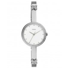 Fossil Maxine Ladies 3-Hand Silver Stainless Steel Crystal Bezel Watch ES4677