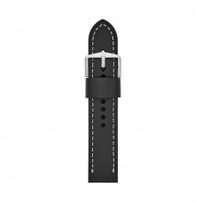Fossil Men's 22mm Black Leather Watch Strap