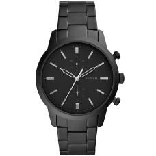 Fossil Men's Chronograph Townsman Black Stainless Steel Bracelet Watch FS5502