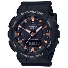 G-Shock Casio GMAS130PA-1A Step Tracker Women's Watch Black 49.5mm