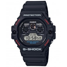 G-Shock Men's Digital Resin Strap Watch, Black 51.4mm