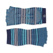Gaiam Striped Toeless Yoga Socks  (Skyline, S/M)