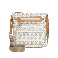 Giani Bernini Block Signature Crossbody Handbag, White