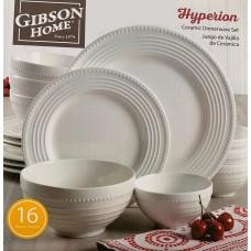 Gibson Home Hyprion or Regalia Ceramic Dinnerware Set