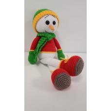 Handmade Amigurumi Cotton Snowman Doll Plush Baby Sleep Toy