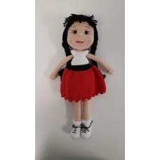 Handmade Amigurumi Crochet Wool Long Short Braided Hair Girls For Fun Game