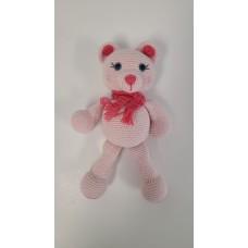 Handmade  Amigurumi Teddy Bear Stuffed Plush Animal Toy Sleeping Friend Doll