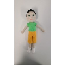 Handmade  Amigurumi Wool Adorable Baby Boy, Stuffed Toy Knit Crochet Boy Doll, Boy Toy