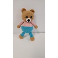Handmade Amigurumi Wool Adorable Girl & Boy Teddy Bears with Colorful Skirts