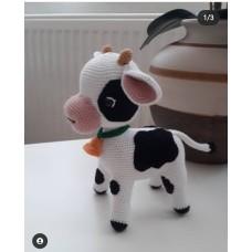 Handmade Amigurumi Wool Cute Little Cow Baby Plush Unicex Funny Kids Toy