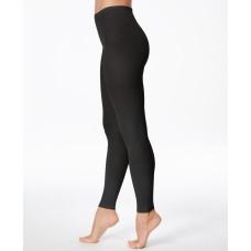 Hanes Women's Matte Opaque Legging, Black, Medium