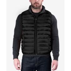 Hawke & Co. Outfitters Men's Reversible Packable Vest (Black, Large)