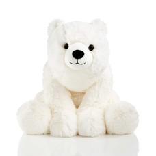 Holiday Lane Small 16″ Plush Polar Bear, White