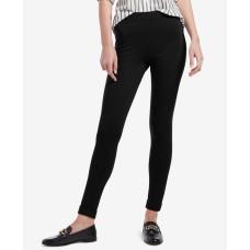 Hue Brushed Fleece-Lined Ponté-Knit Leggings (Black, Medium)