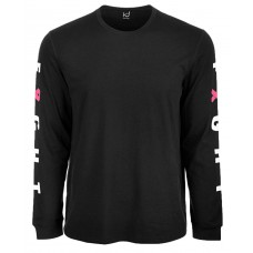 Ideology Men's Breast Cancer Awareness Graphic Long-Sleeve T-Shirt (Black, XL)