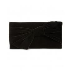 INC International Concepts Bowah Hands Through Velvet Clutch Bag, Black