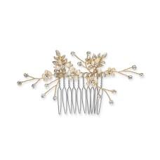INC International Concepts Crystal & Imitation Pearl Small Hair Comb