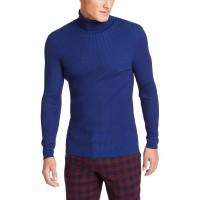 INC International Concepts INC Onyx Men's Ribbed Turtleneck Sweater, Navy, Medium