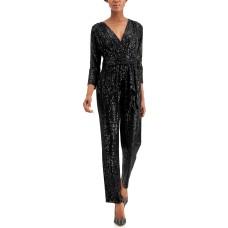 Inc International Concepts Long-sleeve Banded Jumpsuit (Black, X-Large)