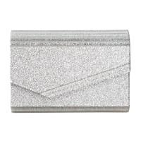 INC International Concepts Maria Envelope Glitter Clutch, Silver