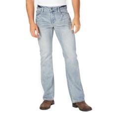 INC International Concepts Men's Modern Bootcut Jeans (Light Wash, 38X34)