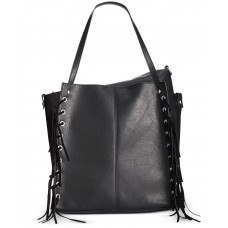 INC International Concepts Venice Tote with Removable Pouch (Black, Large)