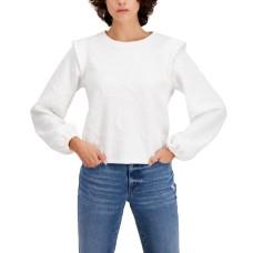 Inc International Concepts Women's Jacquard Sweatshirt Washed (White, Small)