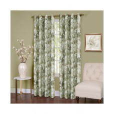 IT WITH Achim Tranquil Lined Grommet Window Curtain Panel (Green, 50″x63″)