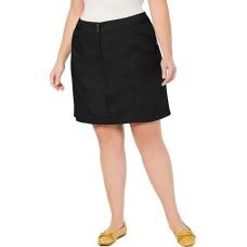 Karen Scott Plus Size A-Line Skort (Black, 24W)