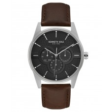 Kenneth Cole New York Men's Leather Strap Watch (Brown)