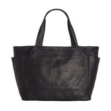 Kenneth Cole New York Stanton Leather Reversible Tote Handbag, Black