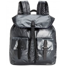 Kenneth Cole New York Vesey Water Resistant Backpack Nylon Drawstring Secret Strap Pockets (Gunmetal)